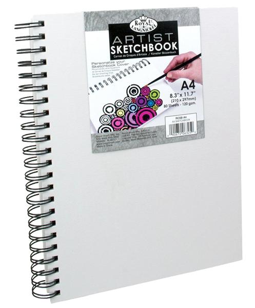 Royal & Langnickel Canvas sketch book - A4, 80 listů
