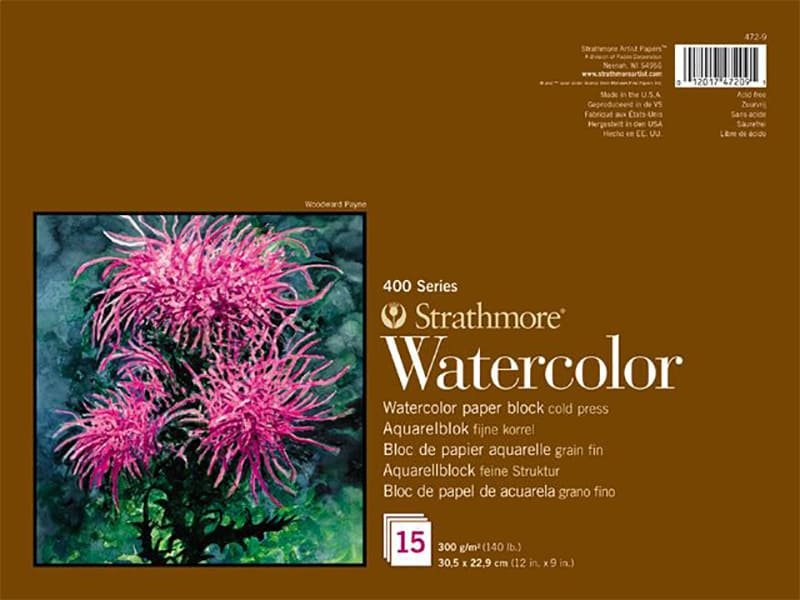 Strathmore Watercolor  paper block 17,8x25,4cm 300g 15ks