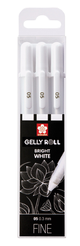 Sakura Gelly Roll Bright White Fine 05 - sada 3 ks