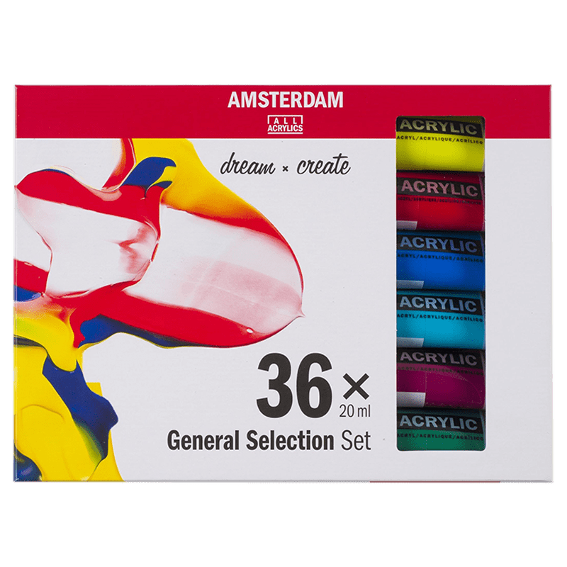 Akrylové barvy Amsterdam – set 36x20 ml - General selection
